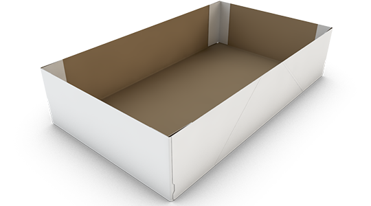 4-point box with reinforced corners
